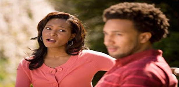 man ignoring woman