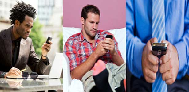 men text messaging texting